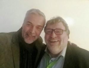 Prof. Herbst (links) und Wolf Lotter (rechts)