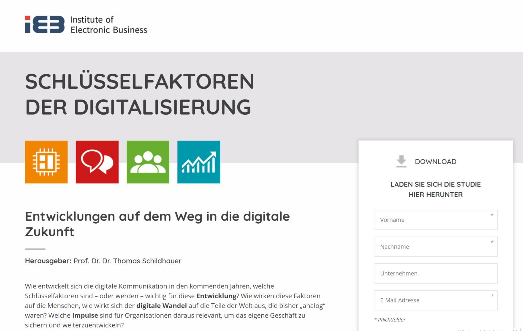 Download der aktualisierten Studie zu den Schlüsselfaktoren der Digitalisierung